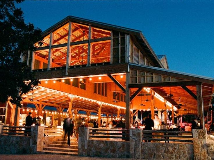 Texas Hill party barn; great idea for a general pavillion ...