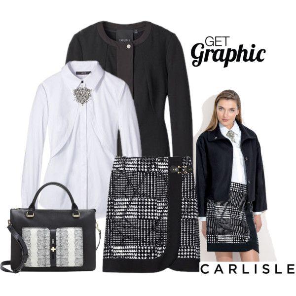 Black white plaid skirt jacket