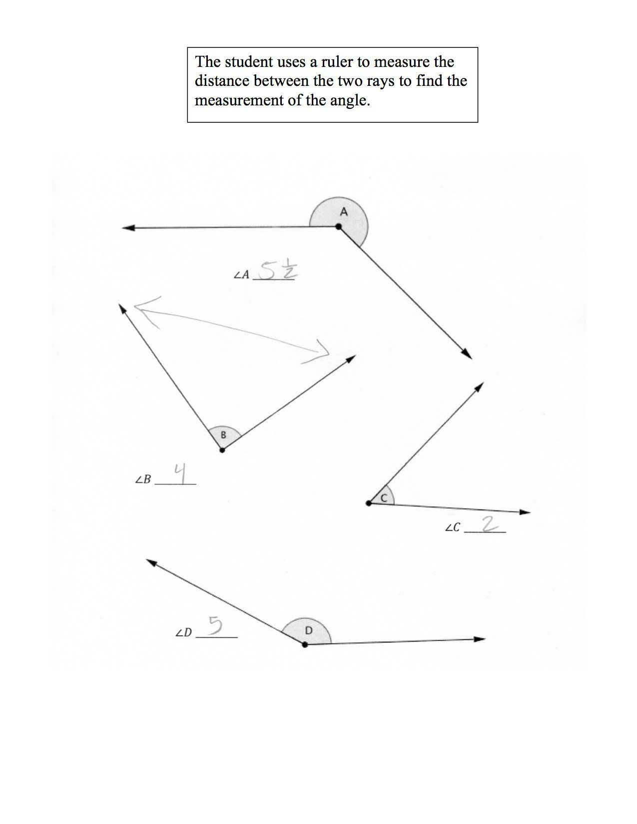 Measuring Angles Worksheet Measuring Angles With A
