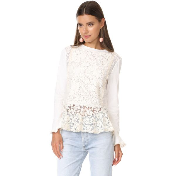 854a15c0 See by Chloe Lace Pullover ($310) ❤ liked on Polyvore featuring ...