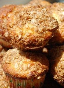 Oatmeal Muffins- pefrect for a filling breakfast with a piece of fruit.