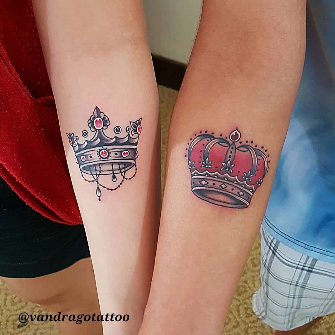 27 Crown Tattoos Making You Feel Like Kings And Queens Matching