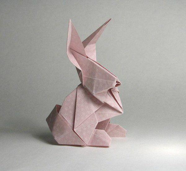 origami hase falten anleitung und inspirierende osterdeko ideen origami papier osterhasen. Black Bedroom Furniture Sets. Home Design Ideas