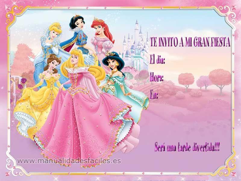 Invitaciones De Cumpleaños De Princesas En Hd Gratis Para Bajar Al ...