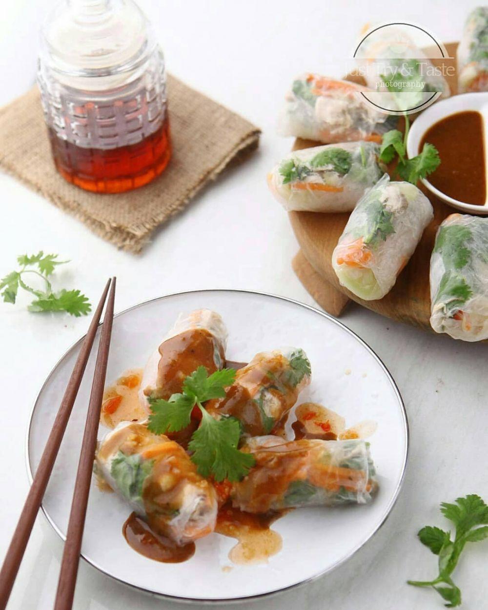Resep Membuat Vietnam Salad Spring Roll C 2020 Brilio Net Resep Masakan Asia Makan Siang Resep Salad