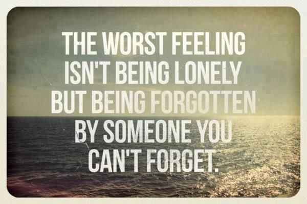 I hate feeling lonely