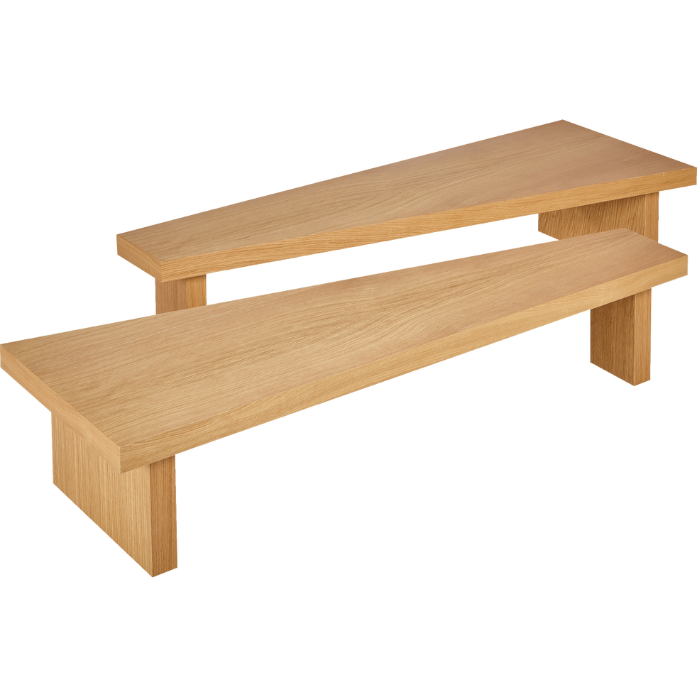 Table Basse Modulable Plaquee Chene Dol Tables Basses Alinea Table Basse Modulable Table Basse Table Basse Alinea