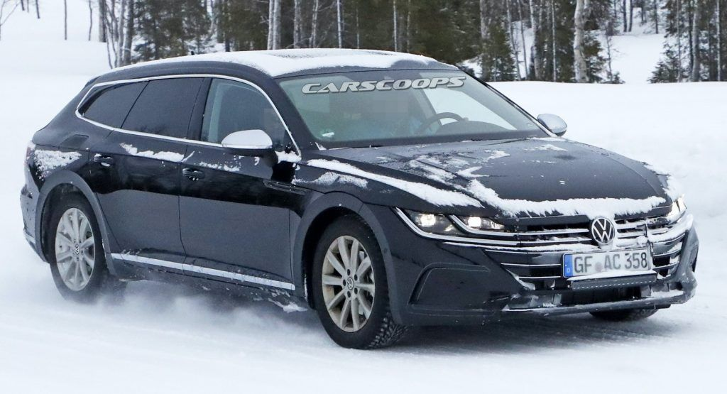 328 Hp Vw Arteon R Shooting Brake Expected To Launch In 2021 Last Week We Got The First Tangible Proof That The Vw Arte In 2020 Volkswagen Brakes Car Shooting Brake