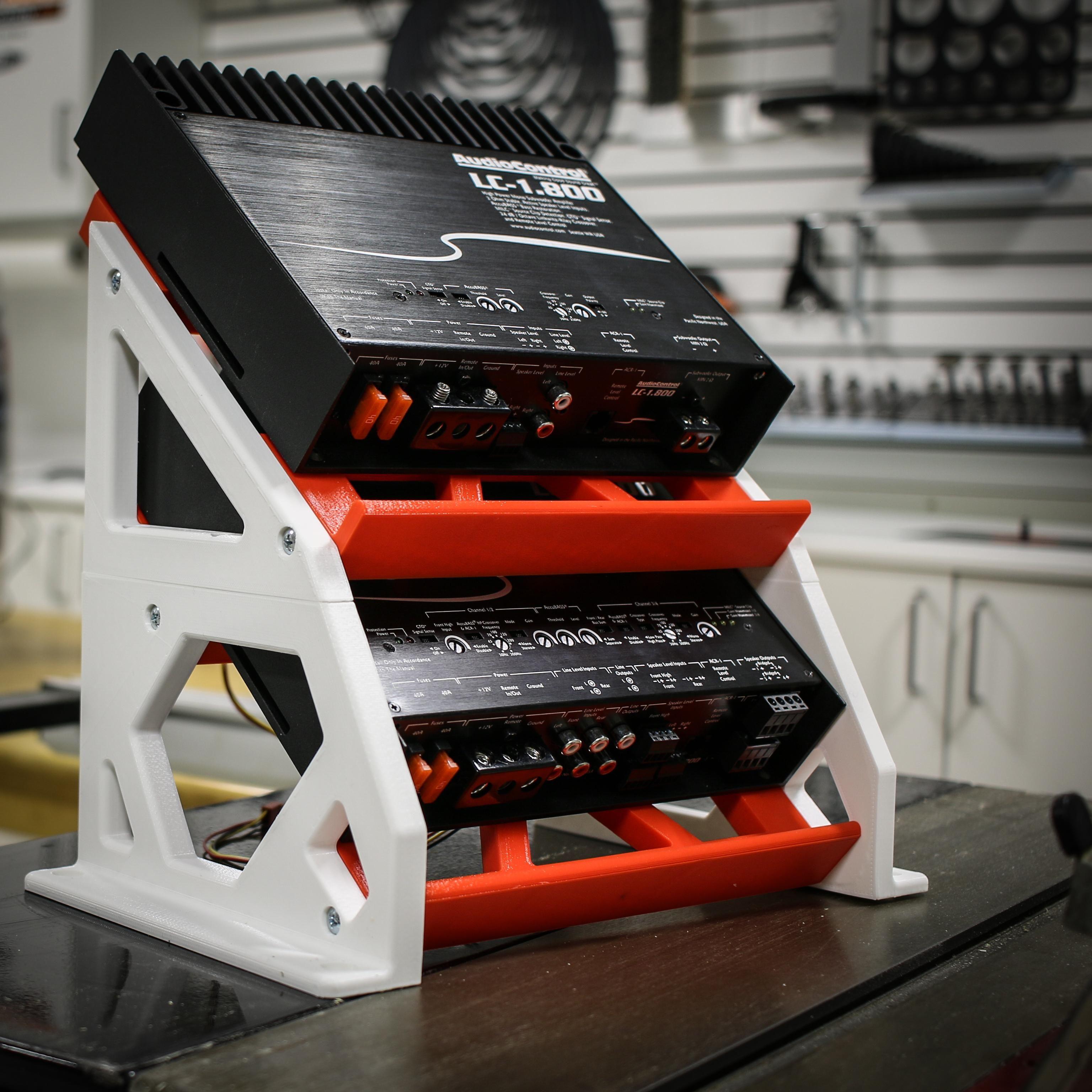 I 3D printed an amplifier rack! | Car Audio News | Car audio