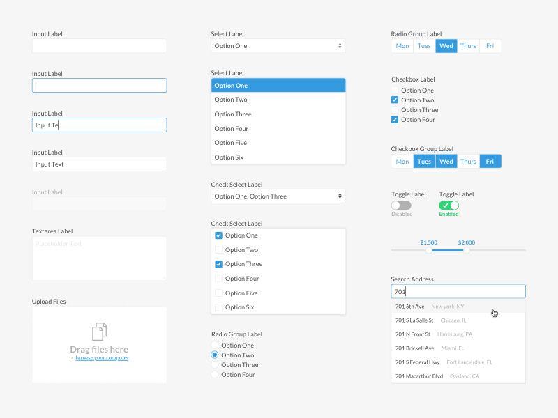 Basic Form Elements | Free Sketch App Resources | Order form