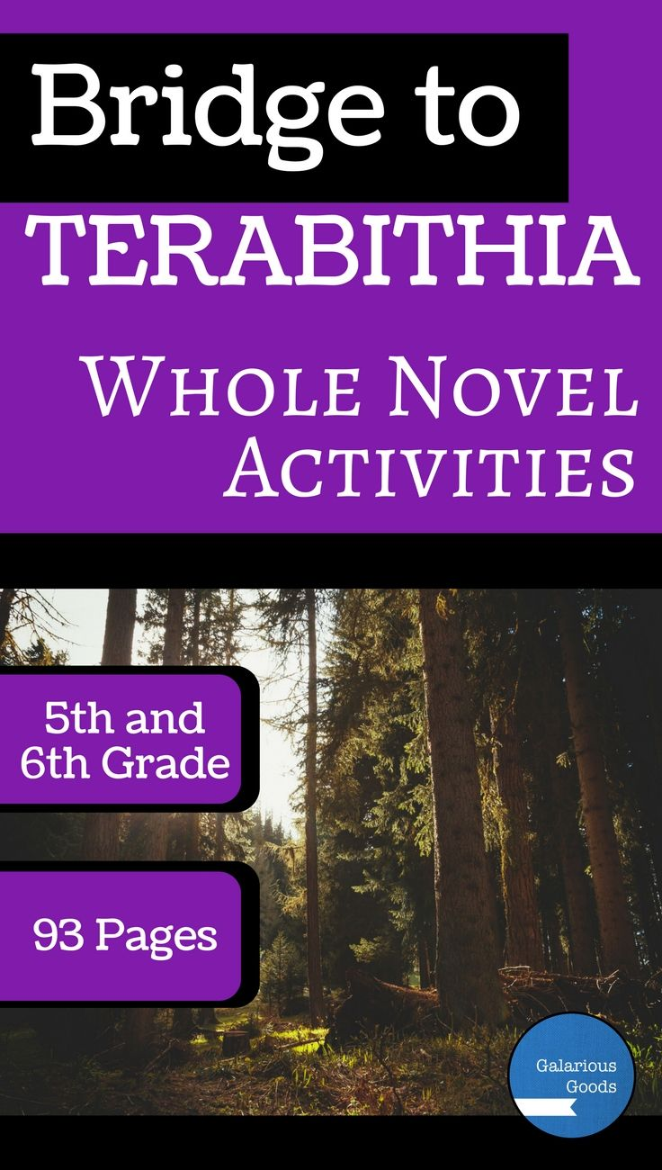 Bridge to Terabithia Whole Novel Activities | Galarious Goods