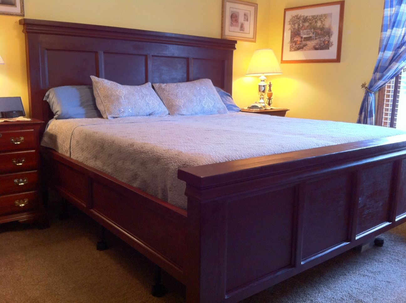 Farmhouse Bed King Modified Do It Yourself Home Projects From Ana White Master Bedroom Makeoverbedroom