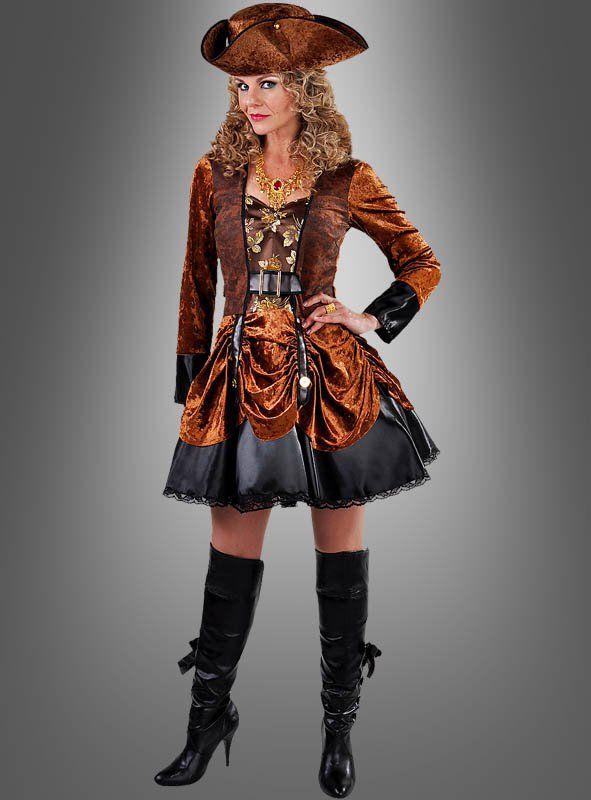 3a6037f141e8b Steampunk Fashion Kleid braun   Piraten und Seeräuber Kostüme ...