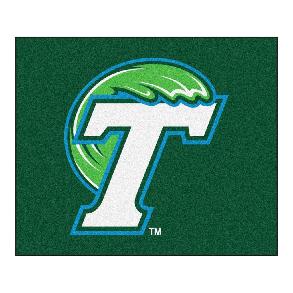 Tulane Green Wave Tufted Area Rug Football team logos