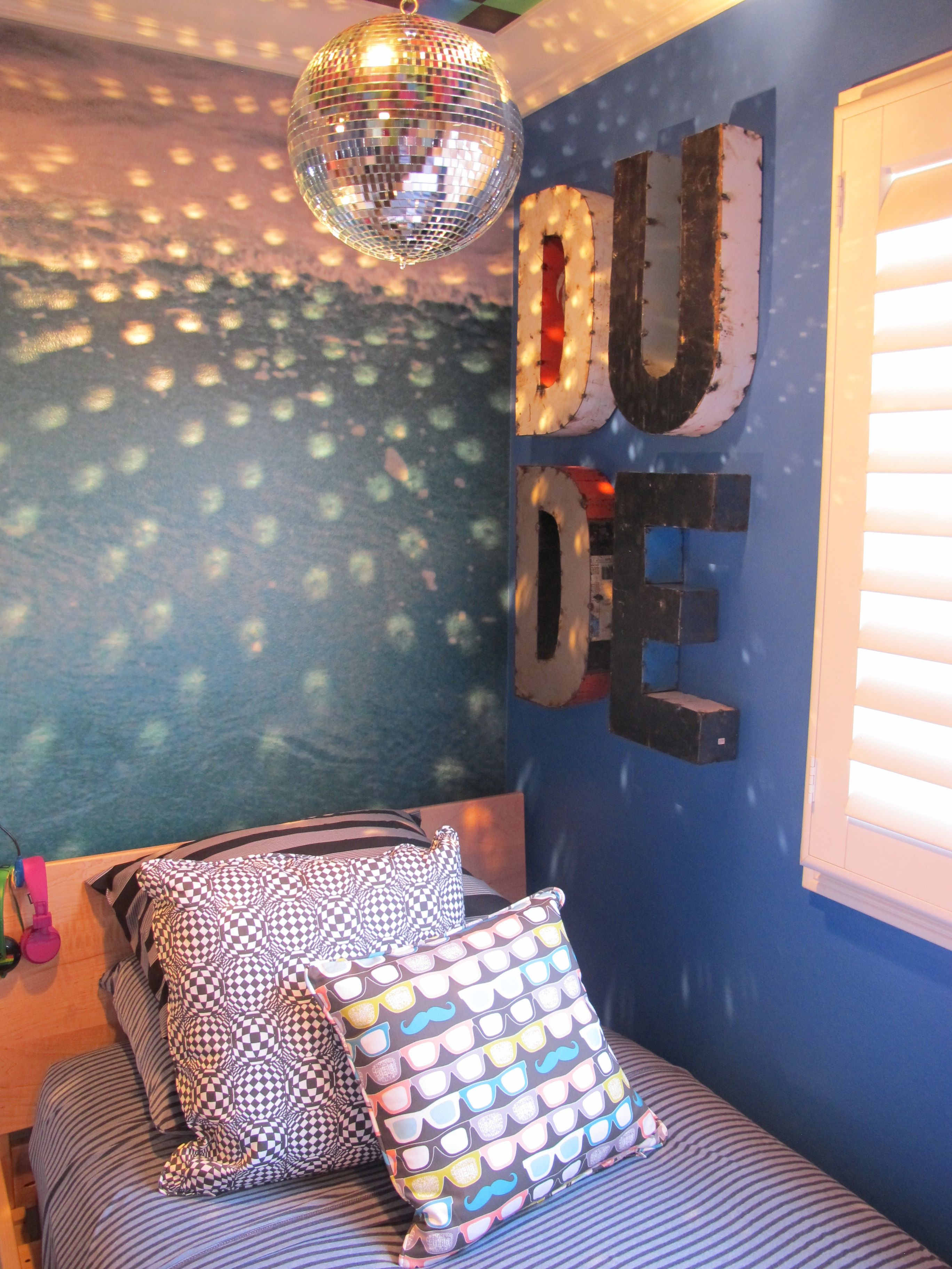 Love The Idea Of A Disco Ball In Kids Room
