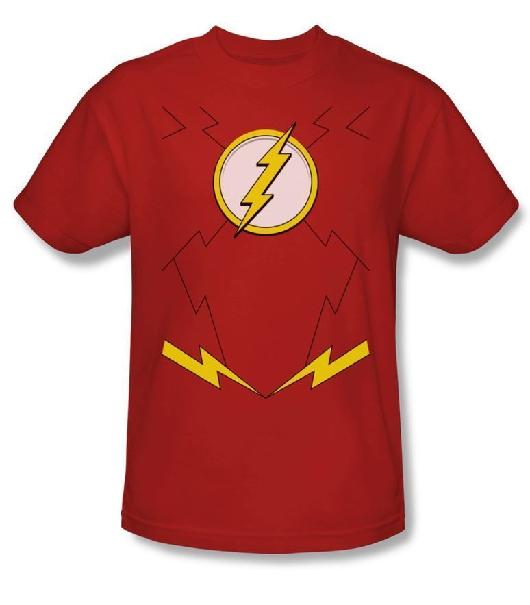 The Flash TV Show CHEST LOGO Licensed Adult T-Shirt All Sizes