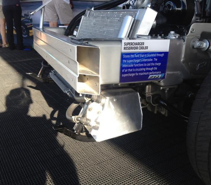 Photo From Corvette Forum Showing The LS9 Intercooler Tank