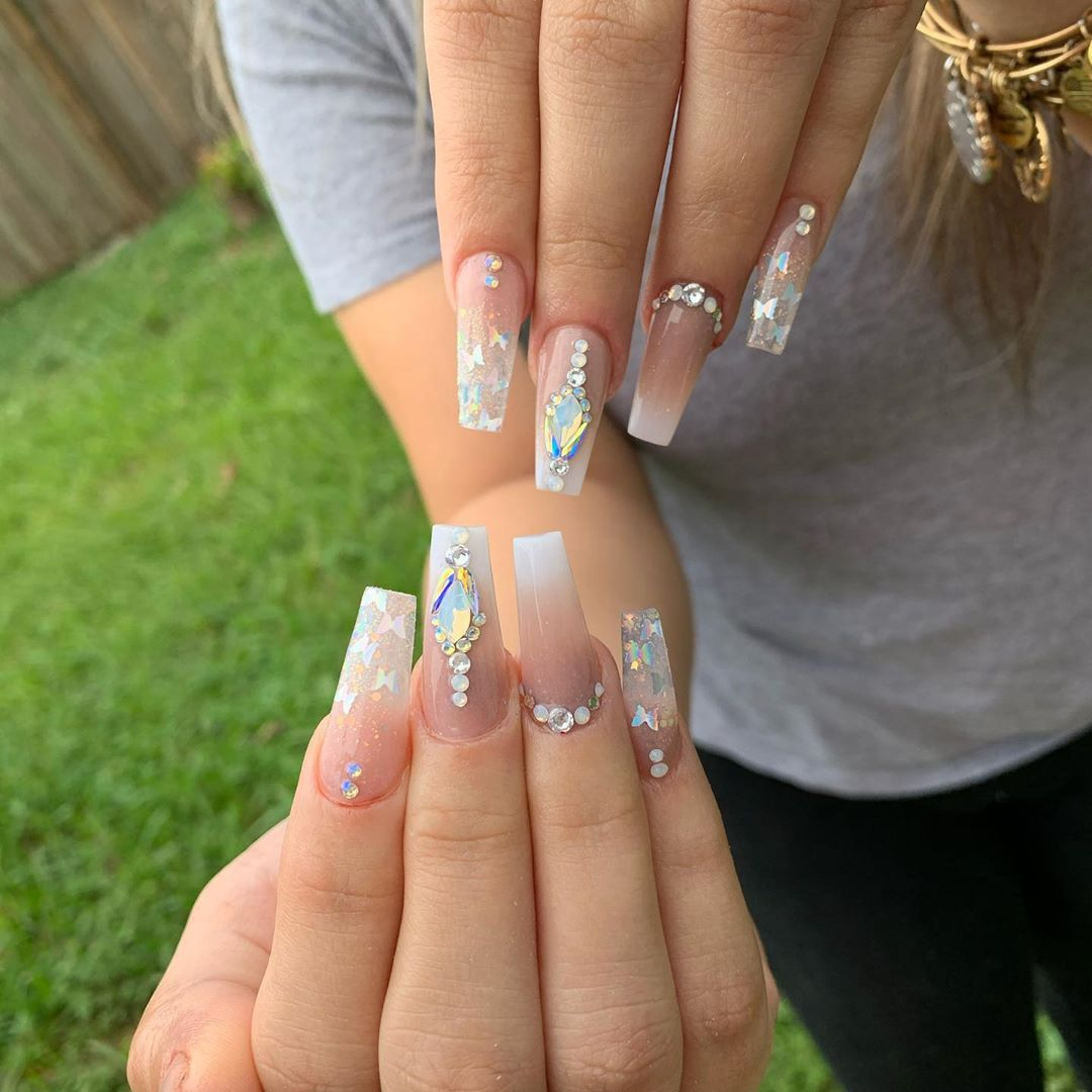 50 Acrylic Nail Designs To Fascinate Your Admirers In 2020 Acrylic Nail Designs Nail Designs Summer Acrylic Nail Designs