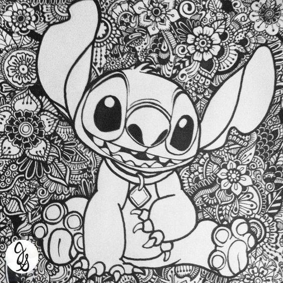 Trop Cute Stitch Coloring Pages Disney