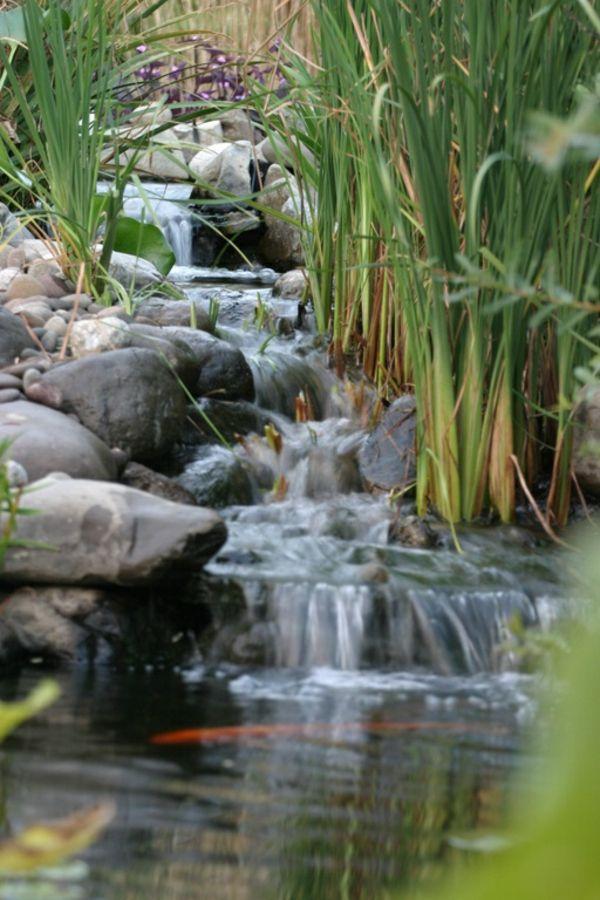 Cascade et fontaine de jardin 69 d co pour les moments de relaxe archzine - Cascade pour bassin exterieur ...