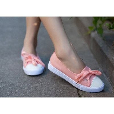 Front Lace Canvas Flat Casual Women's Shoes Sneakers
