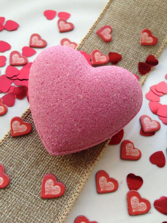 Handmade Aromatherapy Fizzy Pink Heart Shape Bath by BlueAndCherry, £2.49