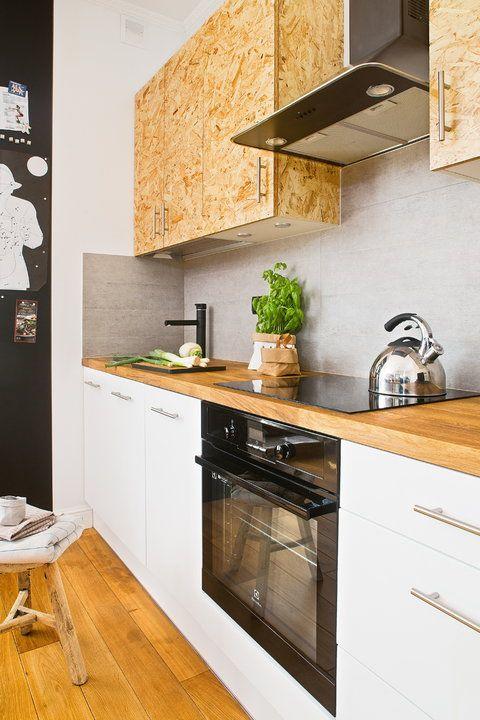 Kuchnia z płytą OSB w roli głównej - efekt przerósł najśmielsze oczekiwania właścicielki - Dom