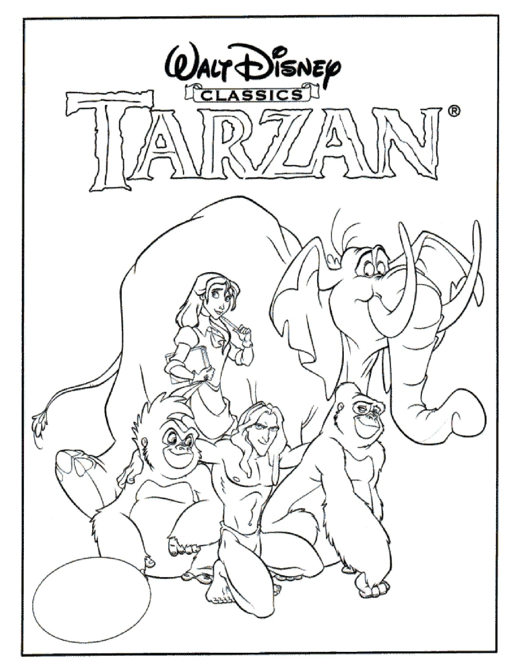 Tarzan | Disney Coloring Pages: Movie Covers | Pinterest