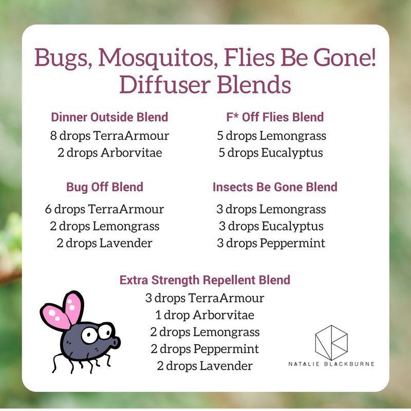 Bugs Blends Natalie Blackburn Doterra Blends Essential Oil Usage My Essential Oils Essential Oil Diffuser Recipes