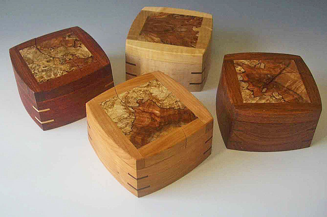 Small Wood Boxes or Decorative Keepsake Boxes for baby