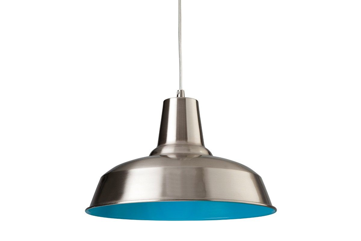 Suspension Smart, acier / bleu - France-Luminaires.com | DECO ...