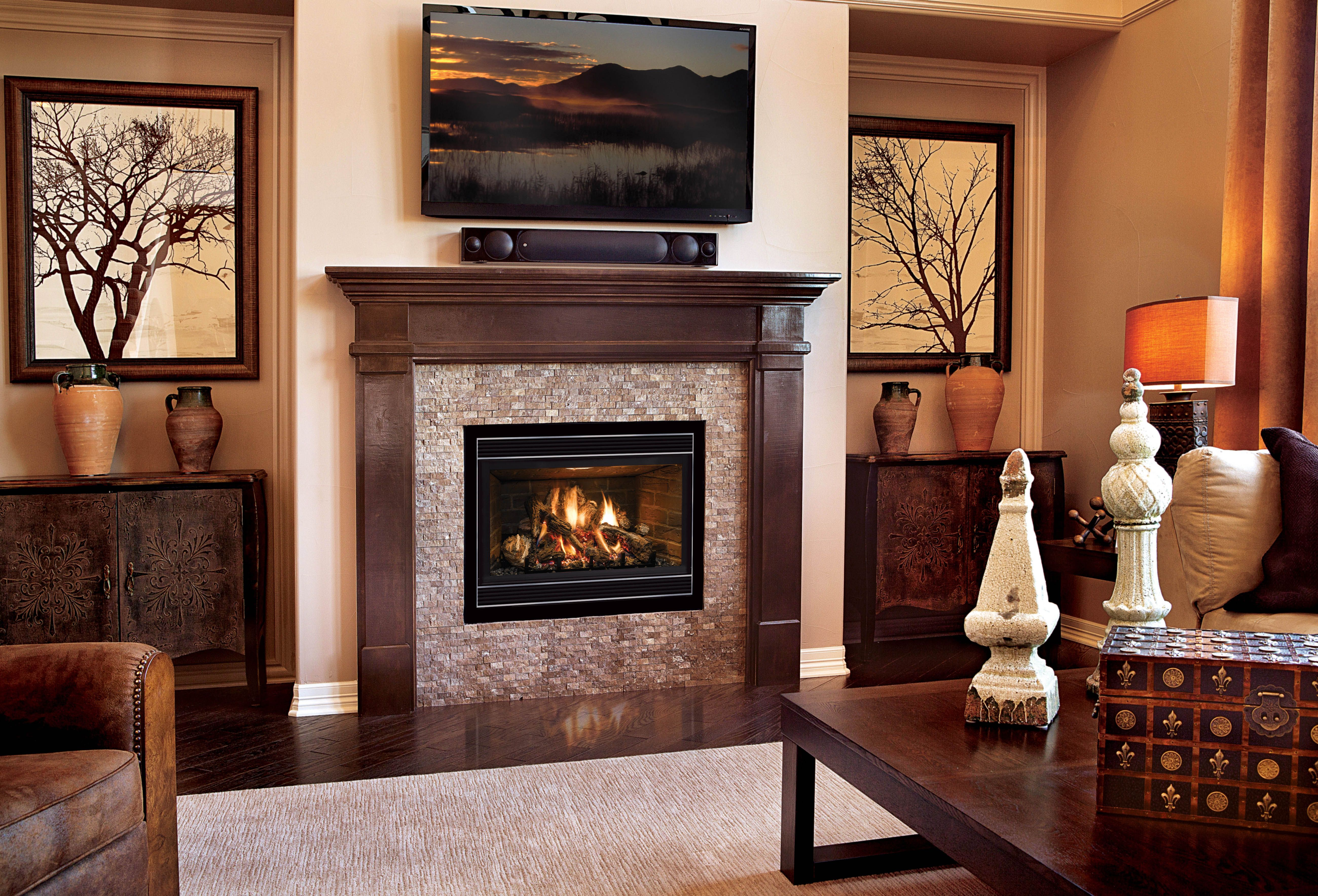 The Dxv Model Is One Of Mendota S More Traditional Gas Fireplaces