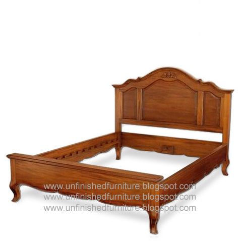 Classic Reproduction French Bed Made Of Solid Mahogany Wood Finished In Walnut Color Stain Nc Finished Wood Bed Design Wooden Bed Wooden Bedroom Furniture