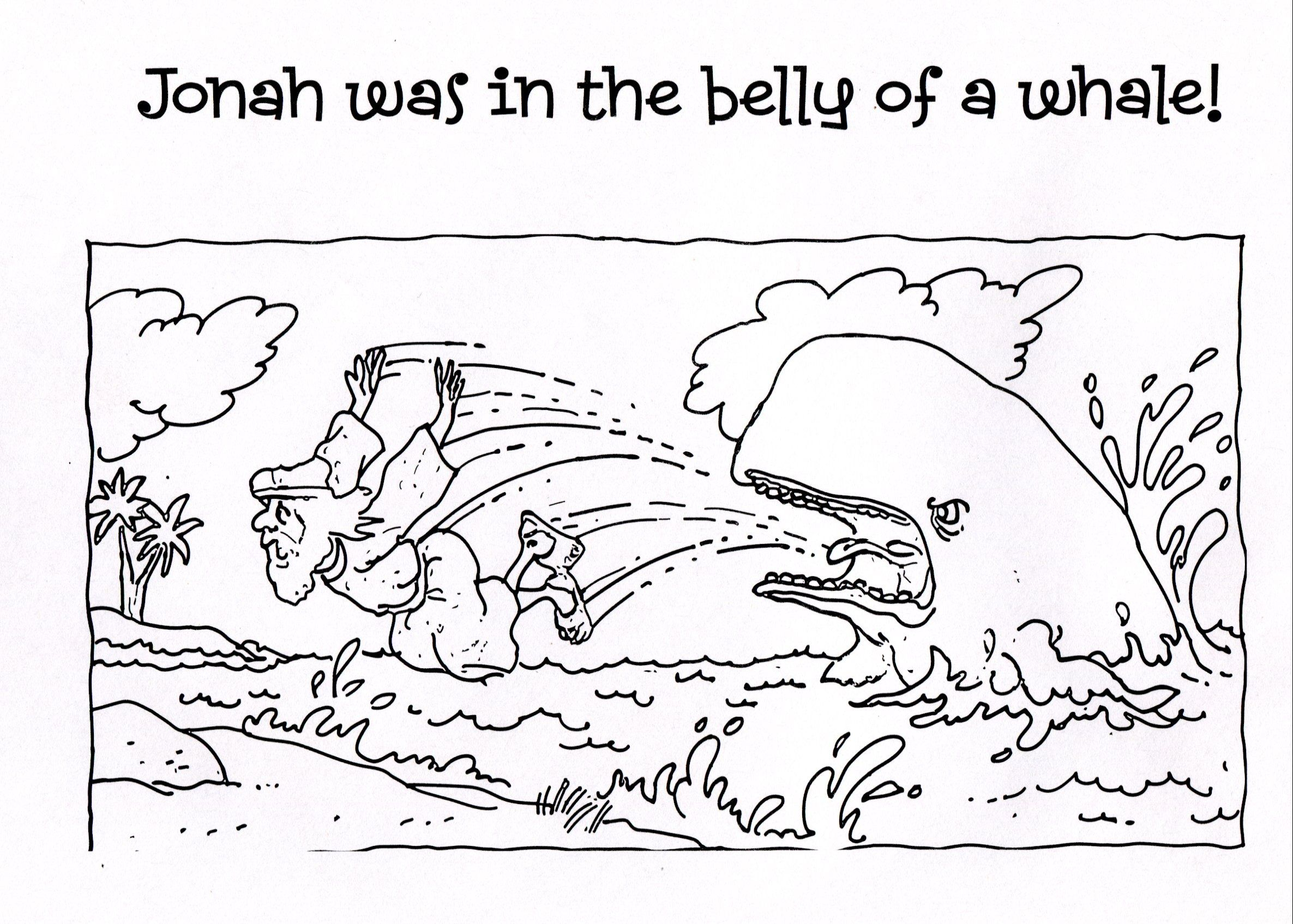 Free Printable Jonah And The Whale Coloring Pages For Kids Whale Coloring Pages Jonah And The Whale Bible Coloring Pages