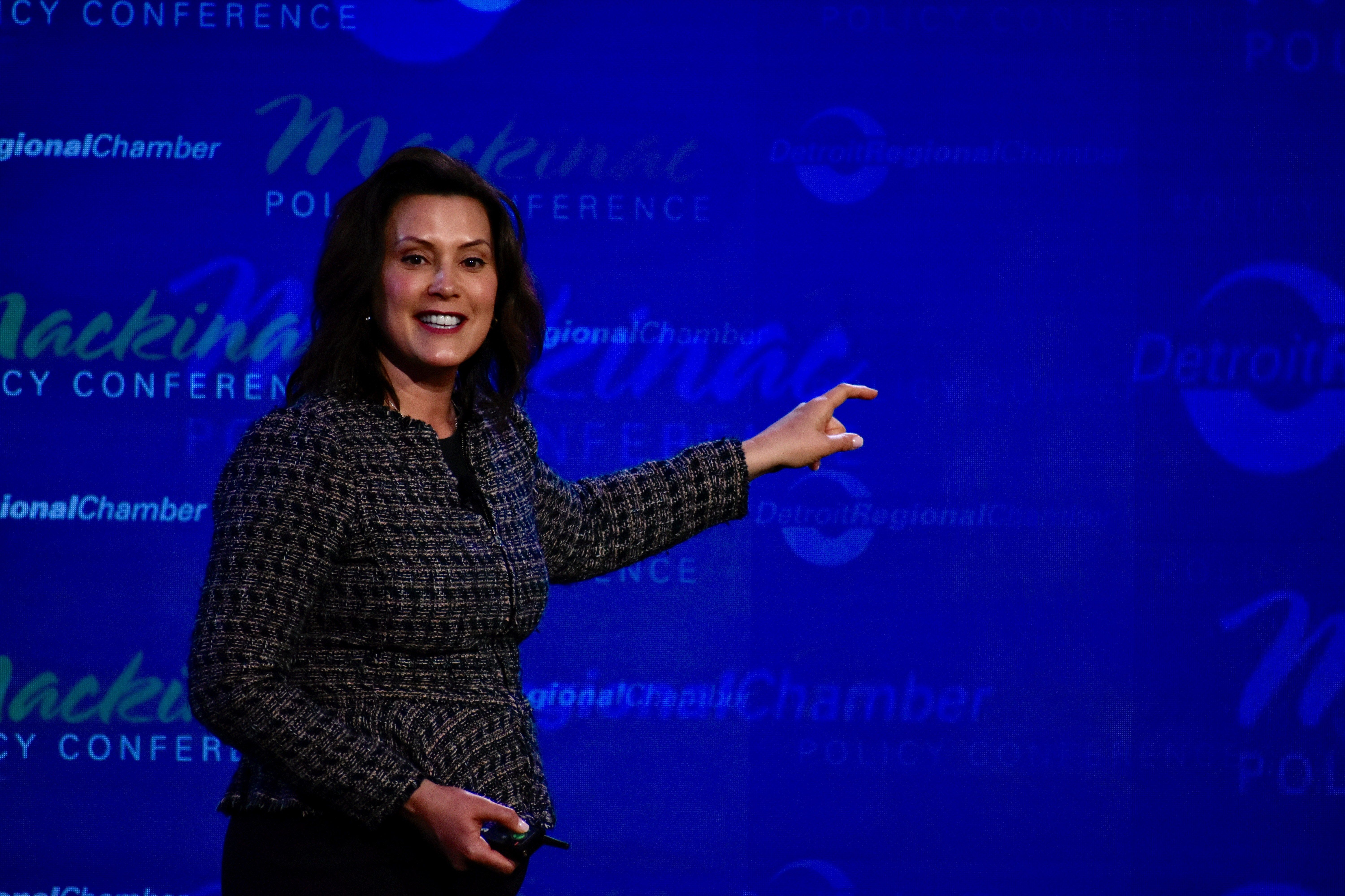 Gov Gretchen Whitmer Speaks At The Mackinac Policy Conference