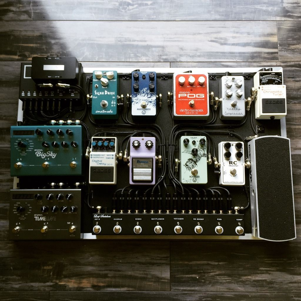 Guitar Pedalboard Music Guitar, Playing Guitar, Guitar Wall, Cool Guitar, Guitar Effects Pedals, Guitar Pedals, Pedalboard Ideas, Storage Organization, Musical #guitarpedals