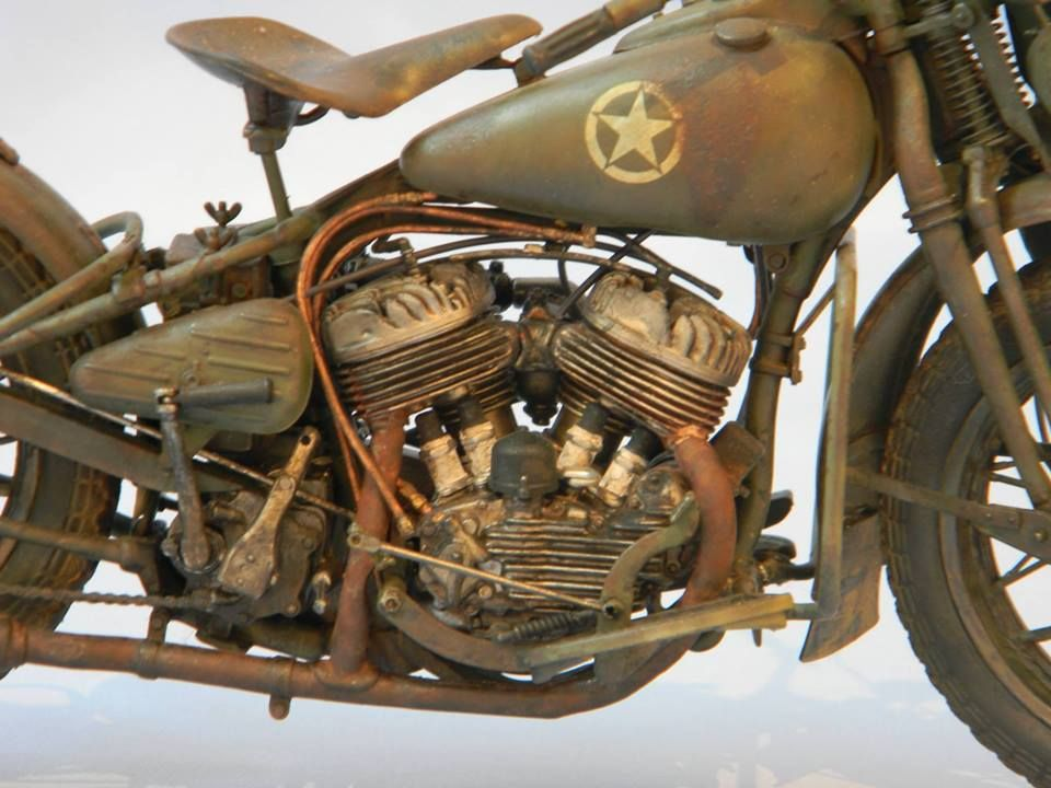 Harley Davidson USWWII Motorcyle 1/9 Italeri