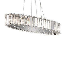 Kichler Lighting Crystal Skye 11.75-in W 12-Light Chrome Kitchen Island Light with Crystal Shade