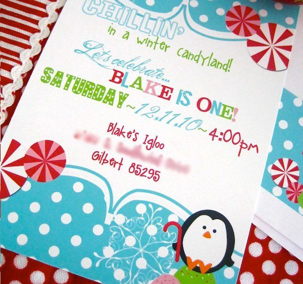 Delightful Christmas 1st Birthday Party Ideas Part - 9: Winter Candyland First Birthday Party