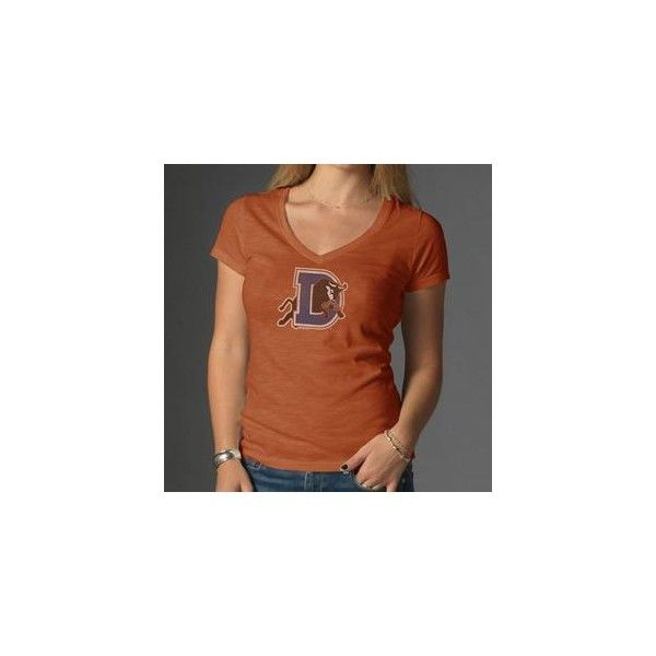 42740bbd44780 Durham Bulls Women s V-Neck Texas Orange Scrum via Polyvore ...