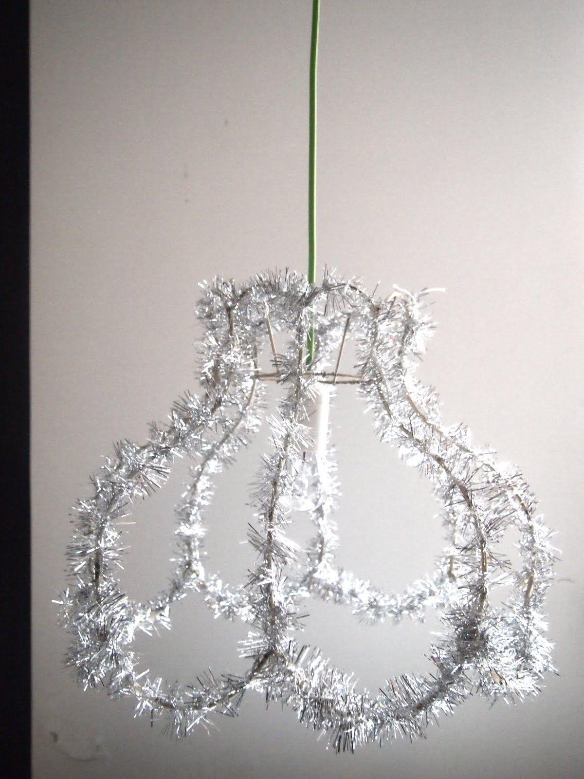 Tinsel lamp shade christmas decor pinterest lamp ideas tinsel lamp shade xmas idea around store aloadofball Gallery
