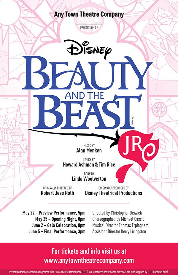 Disney S Beauty And The Beast Jr Customizable Poster Layered