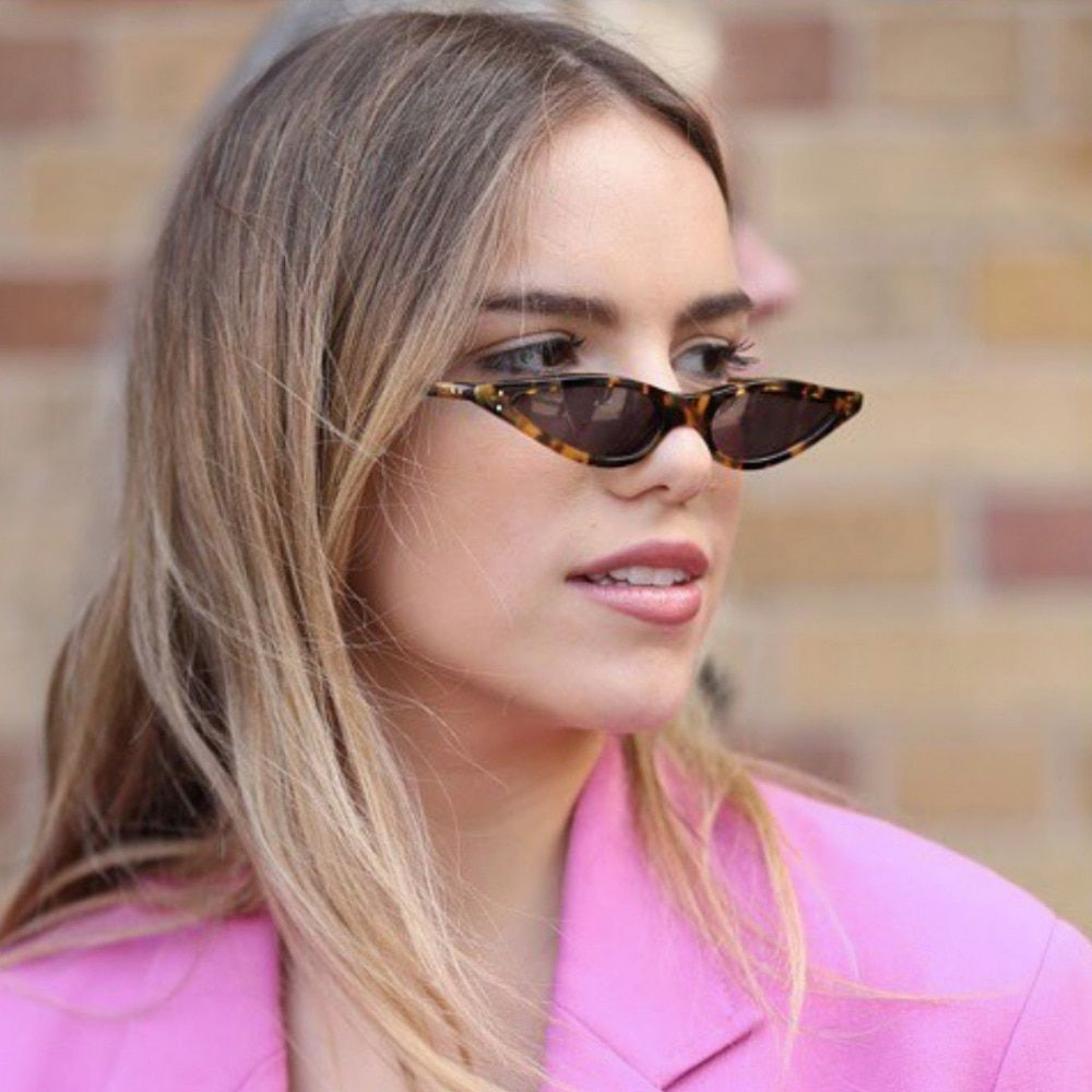 e7626f376af8c SOLO TU Brand Designer Trend Small Waterdrop Shape Sun Glasses Women Ladies  Personality Cateye Cute Sunglasses Oculos De Grau-in Sunglasses from Women s  ...