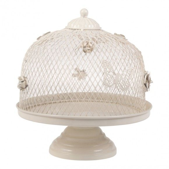 Cream Isabel Cake Stand/Food Net