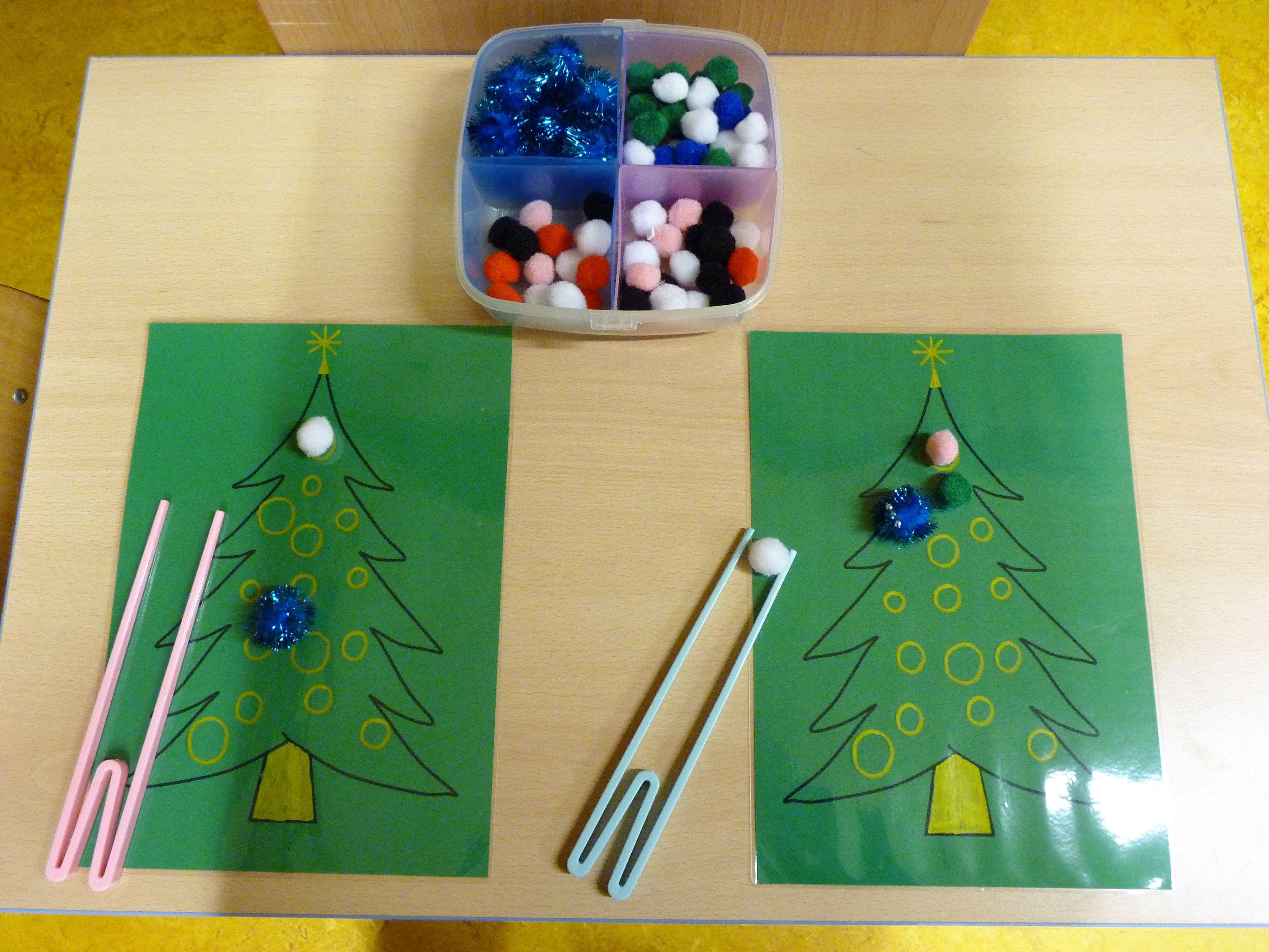 Versier de kerstboom met pompoentjes en een chopstick kerst