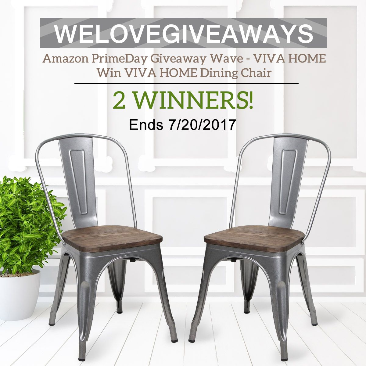 We Love Giveaways #Amazon #PrimeDay #Giveaway Wave - #Viva #Home (End by 7/20/2017) #Win Viva Home #Dining #Chairs #Prize Link: bit.ly/711VHC 2 winners! --------------------------------------------------------------------- 1st, Like We Love Giveaways, Like and share this post, comment with #WeLoveGiveaways #PrimeDay 2nd, Click the link and comment with the color you like more:  bit.ly/711VHC 3rd, Tag your friends who are also interested in them…
