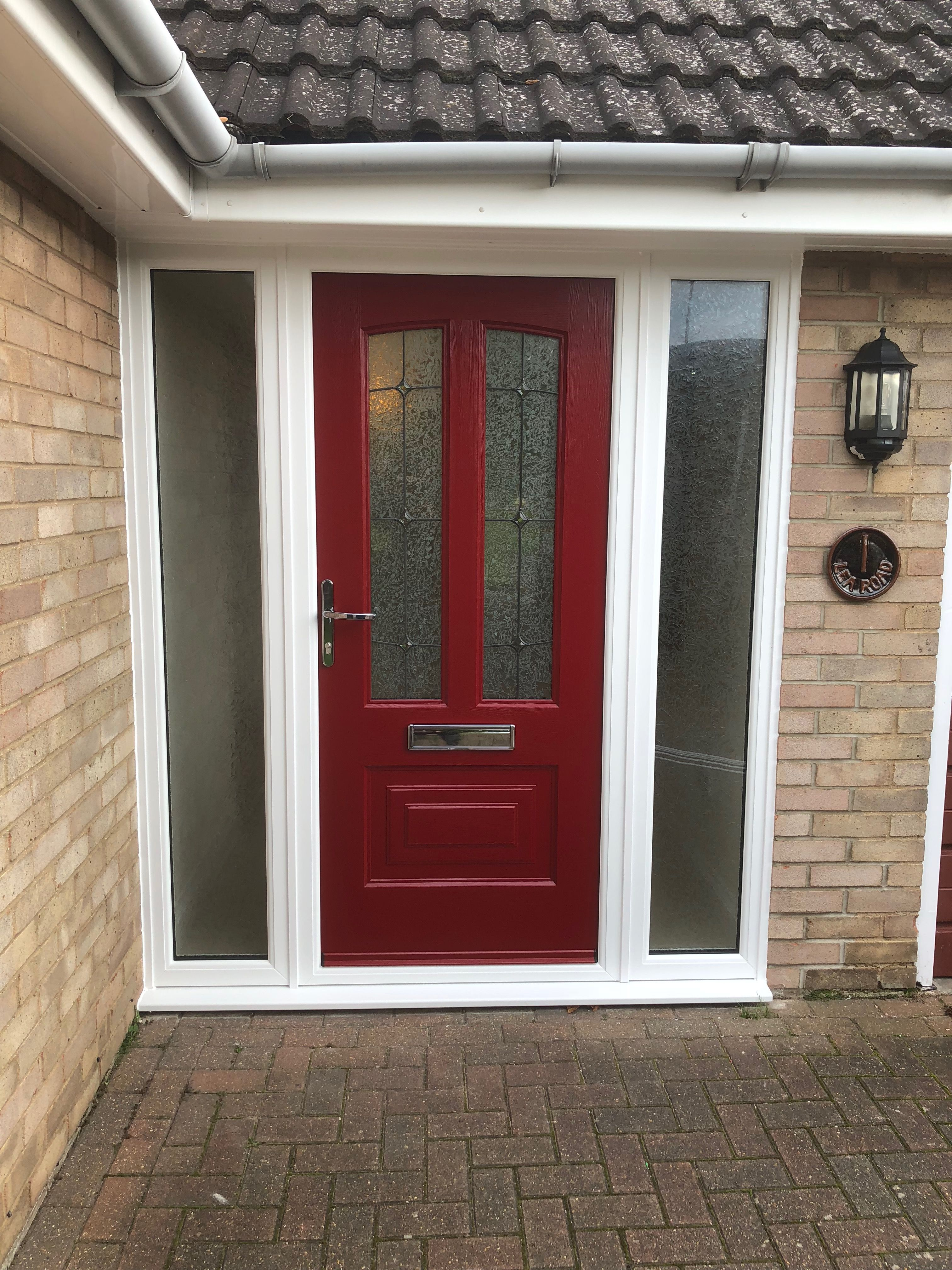 Rockdoor Illinois Trinity with Gluechip Glass in Red #Rockdoor #verysecuredoors #rockdoors #compositedoor & Rockdoor Illinois Trinity with Gluechip Glass in Red #Rockdoor ...