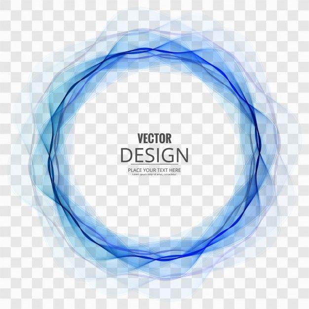 Circulo Abstracto Azul Sobre Fondo Transparente Free Vector