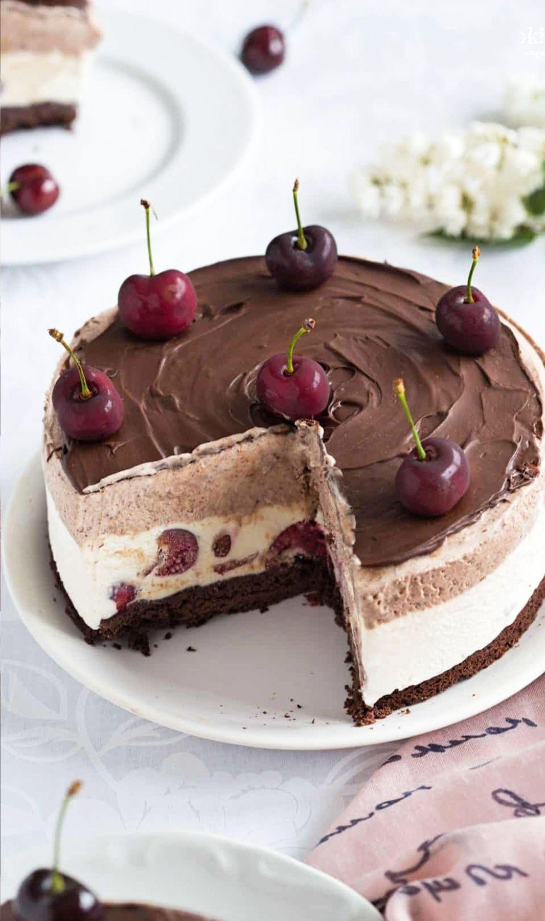 Easy black forest no churn ice cream cake recipe ice