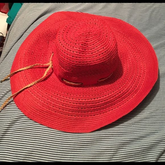 372da64176a Ralph Lauren beach hat Red Lauren Ralph Lauren beach hat Ralph Lauren  Accessories Hats